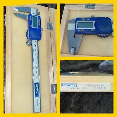 Fowler Electronic Caliper W Case Vintage Vernier Cal. Vrcal 6 150mm 52-059-016