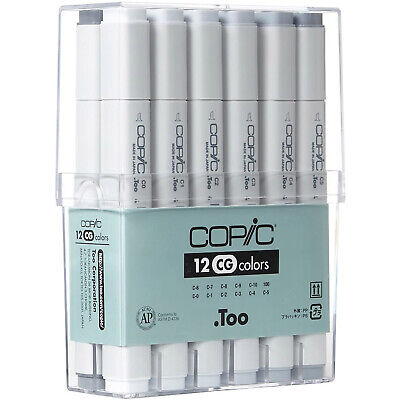 Copic Markers Cool Gray 12 Colors Set Premium Artist Markers