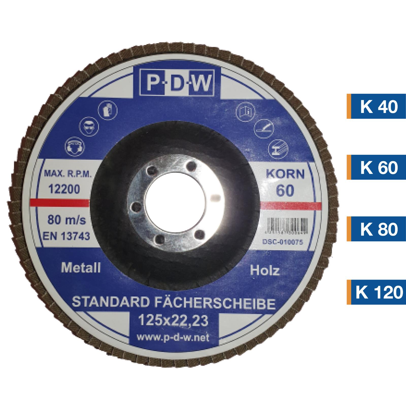 6 x Fächerscheibe Schleifscheibe 125mm Korn 80 /& 120 Versand am gleichen Tag