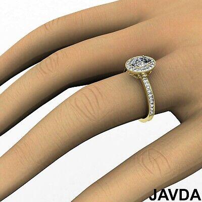 Bezel Set Milgrain Edge Halo Oval Diamond Engagement GIA F VS1 Clarity Ring 1Ct 11