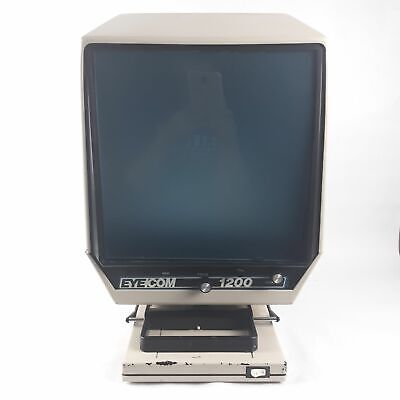 Eyecom 1200 Microfilm Microfiche Reader Viewer Single Lens Unit Tested Working