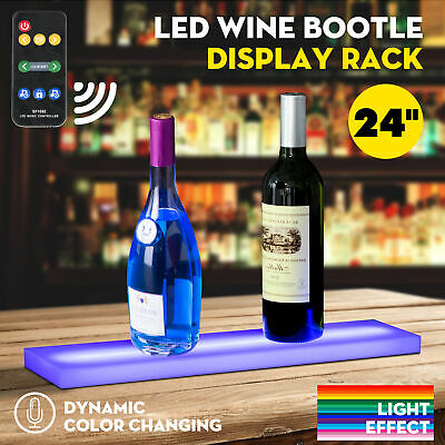 24 Music-activated Led Lighted Bar Liquor Display Shelf Wine Bottle Stand Rack