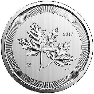 Lot of 2 - 2017 $50 Silver Canadian Maple Leaf 10 oz Uncirculated 10oz RCM Coins