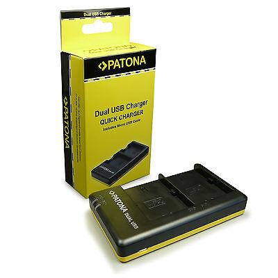 PATONA Dual Ladegerät LP-E6 für Akkus Canon EOS-70D 60D 7D 6D 5D Micro-USB Kabel