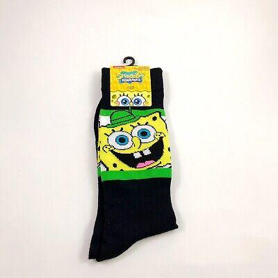 New Mens Nickelodeon St Patricks Day SpongeBob SquarePants Crew Socks Sz. 6.5-12