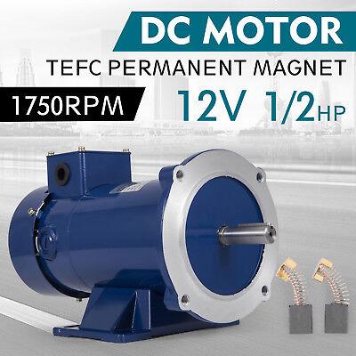 Dc Motor 12hp 56c Frame 12v1750rpm Tefc Magnet Durable Applications Equipment