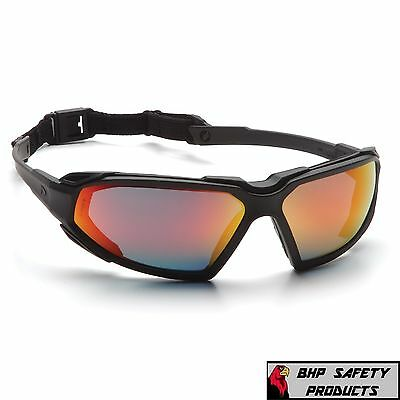 Pyramex Highlander Safety Glasses Sky Red Mirror Anti-fog Sunglasses Sbb5055dt