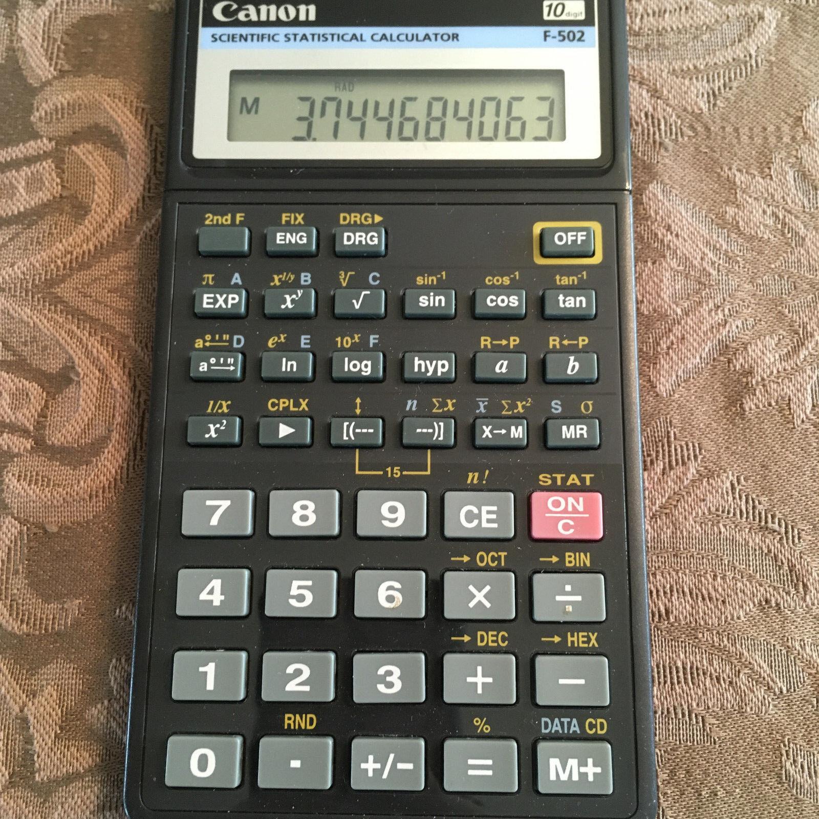 Canon Scientific Statistical Calculator F-502