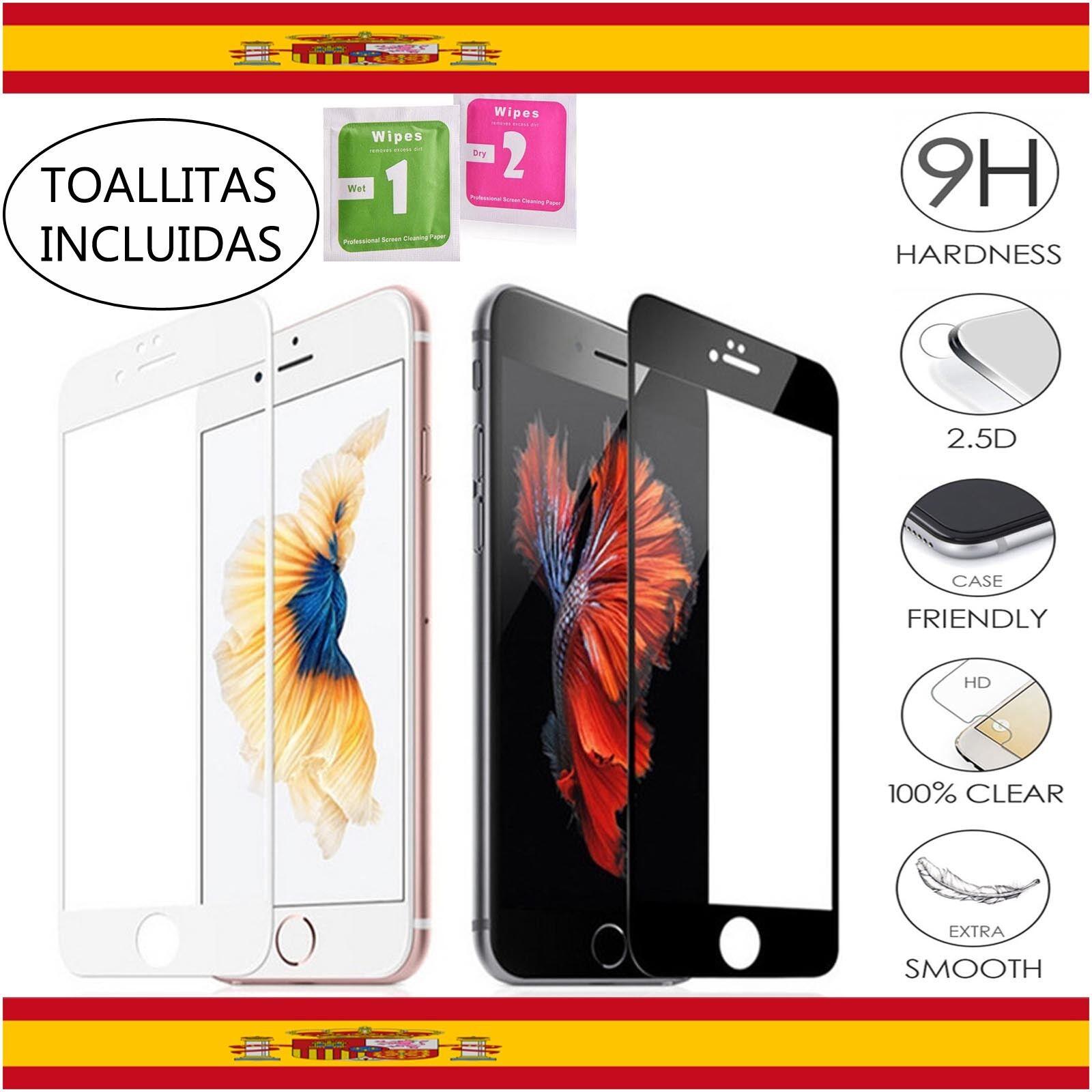 65f1398af9a PROTECTOR COMPLETO PANTALLA DE CRISTAL TEMPLADO PARA IPHONE 6 7 8 X G S o  Plus