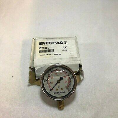 Enerpac Pressure Gauge 0 To 10000 Psi Range 14 In Mnpt 1.50 Gauge Accuracy
