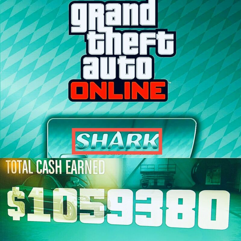 GTA V SHARK CARD Xbox One Grand Theft Auto Online $6,000,000 (READ DESCRIPTION)