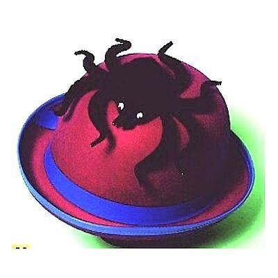 Melone pink mit Spinne Halloween Fasching Kostüm Zubehör Hut 2. Wahl 123814013