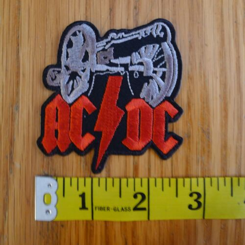AC/DC Embroidered Patch CANON For Those About to Rock CLASSIC Hard Rock 70s 80s