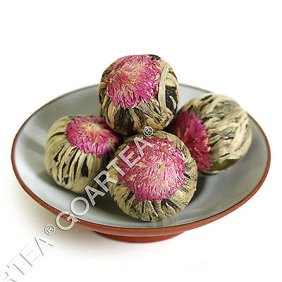 GOARTEA 12Pcs Organic Jasmine Blooming Flowering Flower Artistic Green Tea Ball