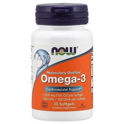 NOW Foods Omega-3, 1000 mg, 30 Softgels