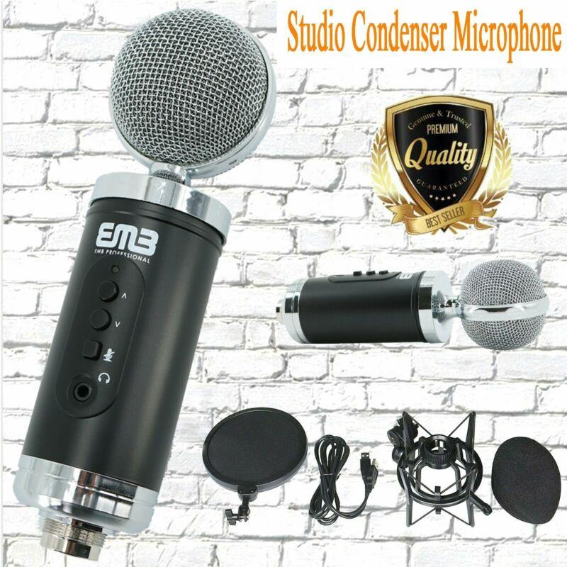 EMC960 Multi Pattern Recording Large Diaphragm Condenser Studio Microphone Black