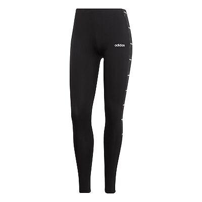 adidas Essentials Linear Graphic Womens Fitness Gym Legging Black/White