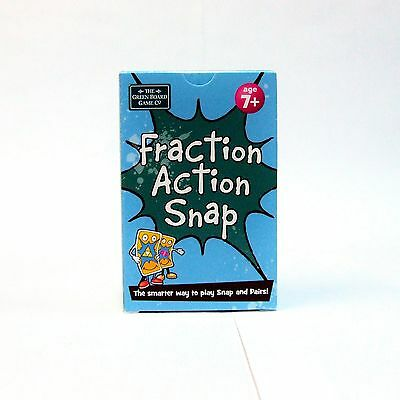 - Fraction Action Snap + Pairs Card Game Brainbox Learn Maths Fractions NEW Age 7+