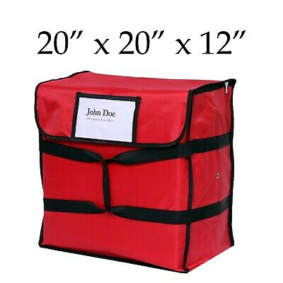 Nylon Insulated Red Pizza Delivery Bag- 20 X 20 X 12 - Restaurant Linen Store