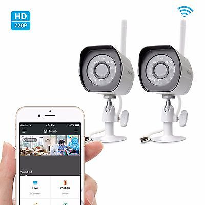 Zmodo 2 720p HD IP Wireless Outdoor IR Night Vision Home Security Camera System