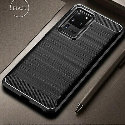 Schutz Hülle CARBON Samsung Galaxy S10e S10 Plus S20 Plus Ultra Case Cover