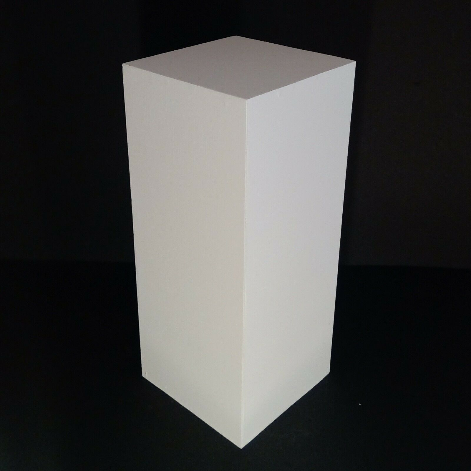 "25"" High White Display Pedestal Stand Riser Column Pillar -"
