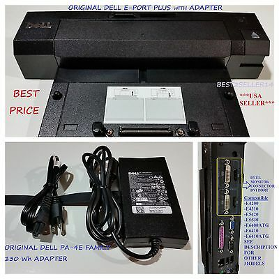 Dell Docking Station EPort Plus PRO2X + Adapter Latitude E6400 E6410 E6420 E6500