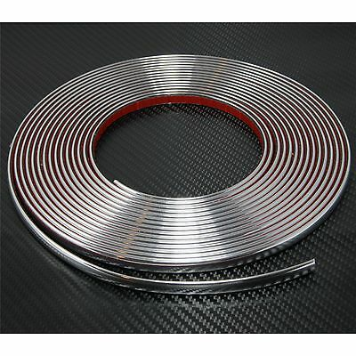 12mm ( 1,2 cm ) x 8m CHROME CAR STYLING MOULDING STRIP TRIM ADHESIVE