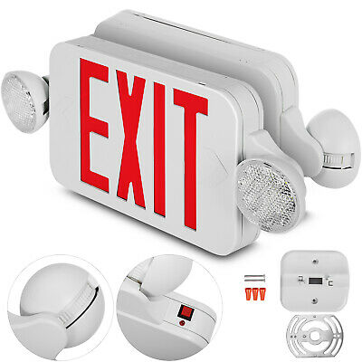 4 Pack Emergency Lights Red Exit Sign Wdual Led Lamp Led Red Exit Smd2835