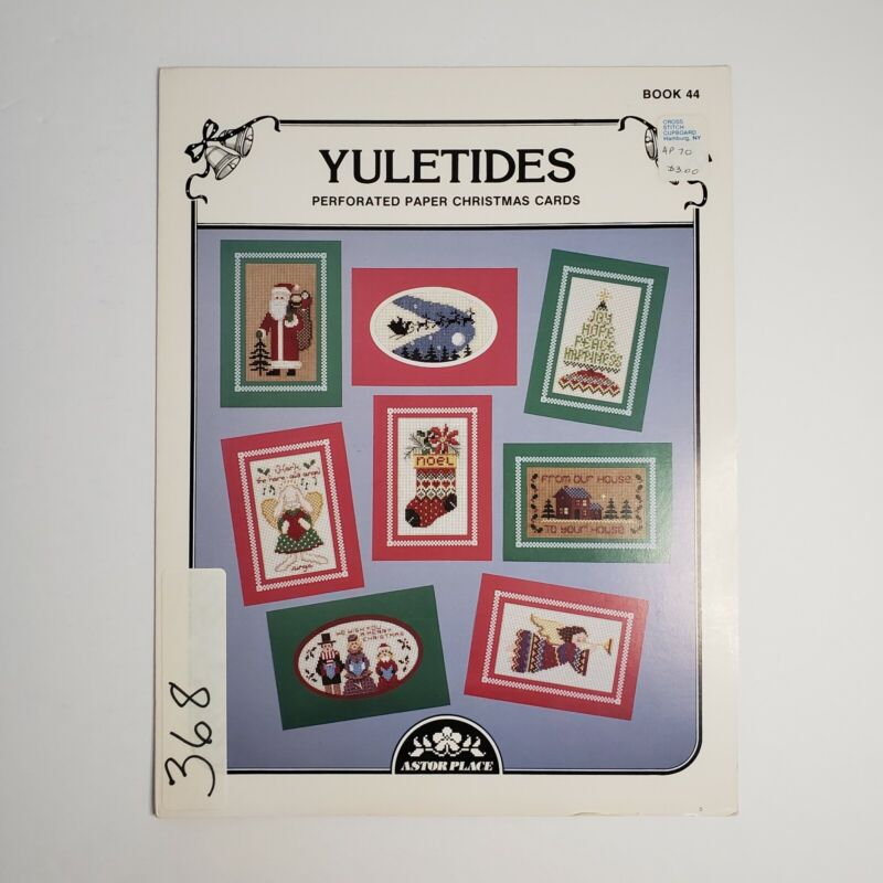 Astor Place - Yuletides Perforated Paper Christmas Cards - Cross Stitch Patterns