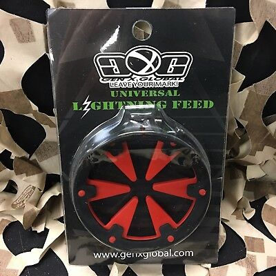 NEW Gen X Global GxG Lightning Universal Paintball Loader Speed Feed - Red