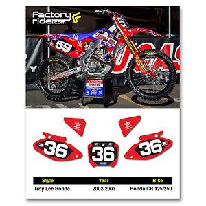 Honda cr 125 dirt bike ebay 2002 2003 honda cr 125 250 dirt bike graphics motocross custom number plates tld publicscrutiny Choice Image