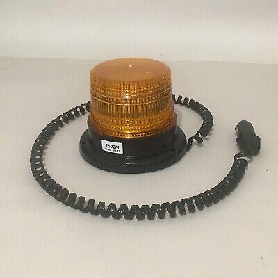 Whelen Magnetic Amber Strobe Beacon 12-80v Dc 1500 Series 1502m 1502ma