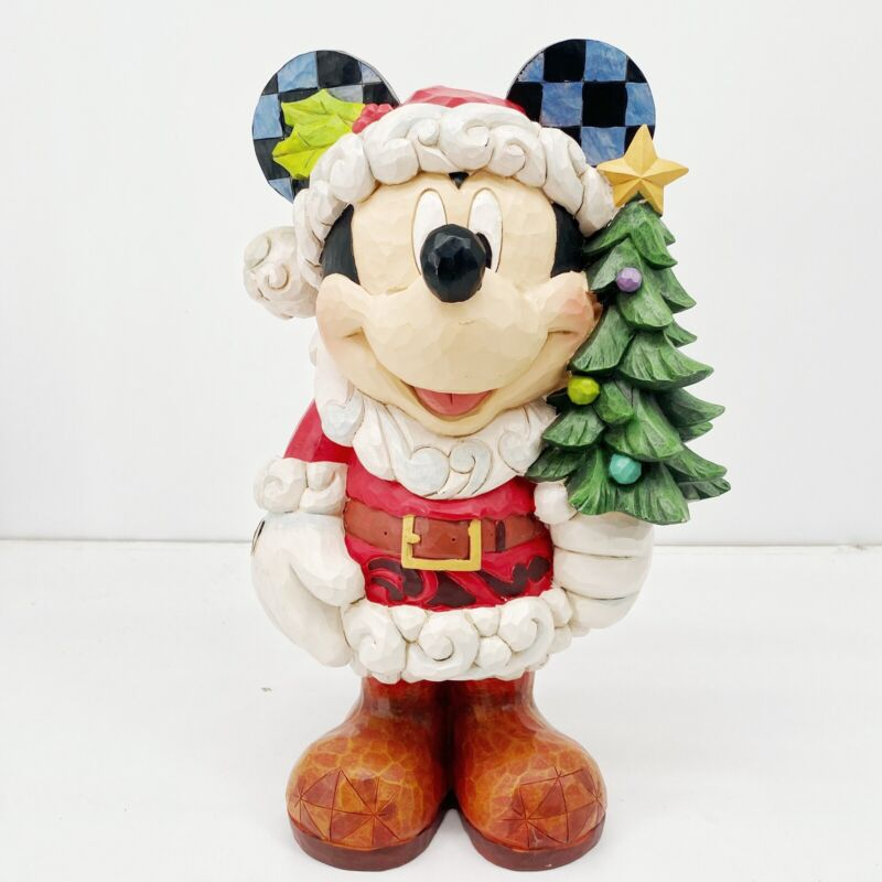 Disney Traditions Christmas Decor Mickey Mouse Old St Mick Jim Shore 17 Inch