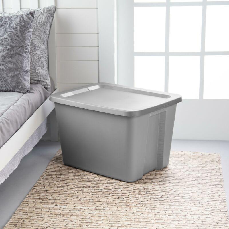 Tote Box Plastic Storage Bins Tubs With Handle 18 gal./68 L