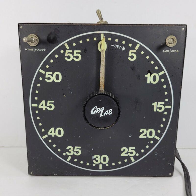 Vintage GraLab Darkroom Electric Clock Photo Lab Developer Timer Buzzer Working