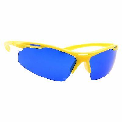 Golf Ball Finder Locating Glasses Sports Style Blue Lens Sunglasses Men - Yellow - Golf Ball Sunglasses