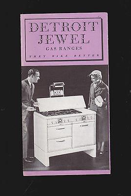 Detroit Jewel Gas Ranges vintage brochure (Illustrated) They Bake