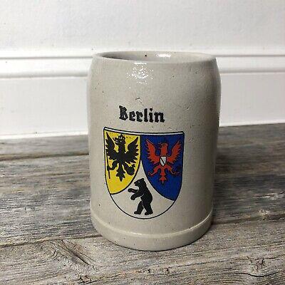 Rare Vintage Berlin Beer Stein Stoneware German 0.5L Mug