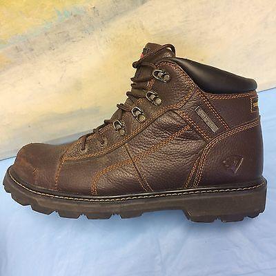 Herman Survivors Brown Leather Steel Toe Boots Waterproof Work ...
