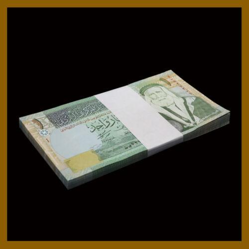 Jordan 1 Dinar x 50 Pcs Bundle, 2011 P-34c Hussein Bin Ali Sharif, Camels Unc