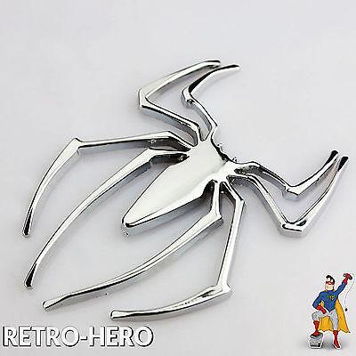 L Spinne - Sticker Skin Decal Chrom Spider-Man Marvel 3D  (Spiderman Aufkleber)