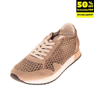 CRIME LONDON Sneakers EU 34 UK 2 US 3 Contrast Leather Honeycomb Mesh Shiny
