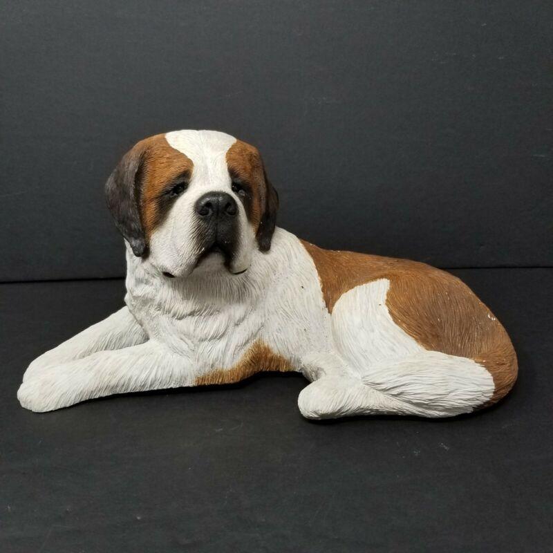 "Vintage Sandicast 11"" Saint Bernard Dog Sculpture Figurine by Sandra Brue"