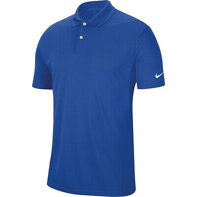 New Nike Golf Dri Fit  Victory Polo Shirt Royal Blue Size Large - New