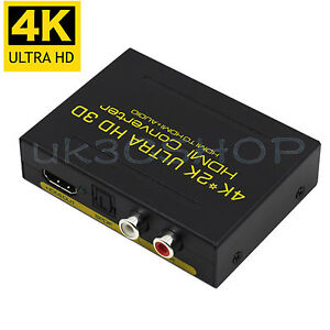HDMI Audio Extractor ARC Adapter to HDMI Optical SPDIF RCA L/R 4K HD Converter