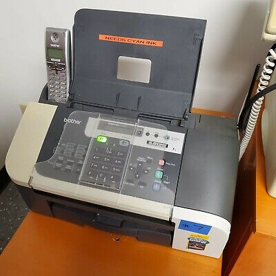 Brother Intellifax 1960c Color Ink-jet - Fax Copier With Used Ink Cartridge