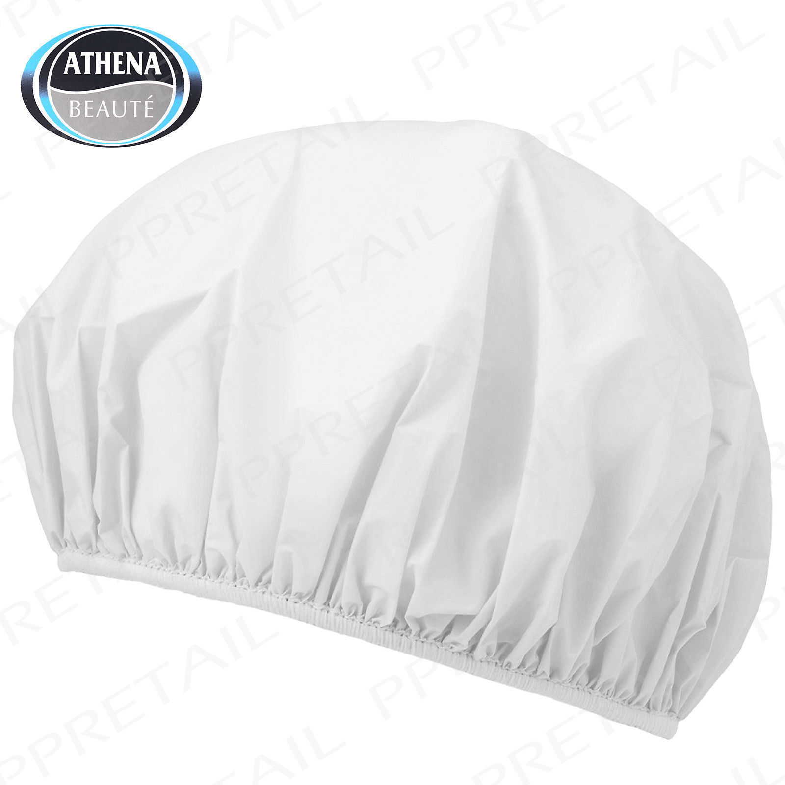 Shower Caps Elasticated Waterproof Hair Wrap Bath (Pack of 4) by Athena