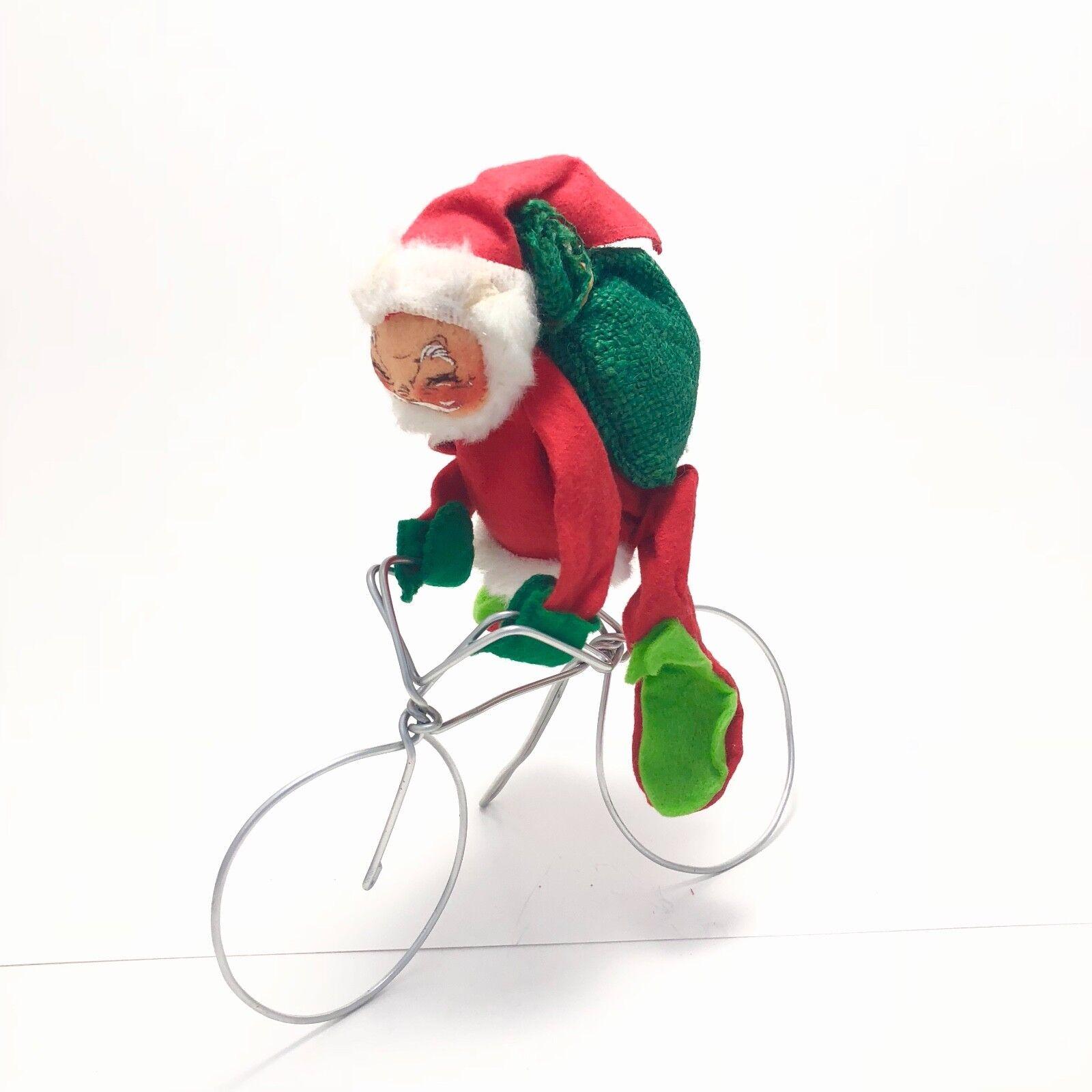 Annalee Santa Claus On Bicycle Vintage 1971 (Used - 16799 USD)