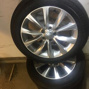Chrysler Oem  Rims on Tires Like new